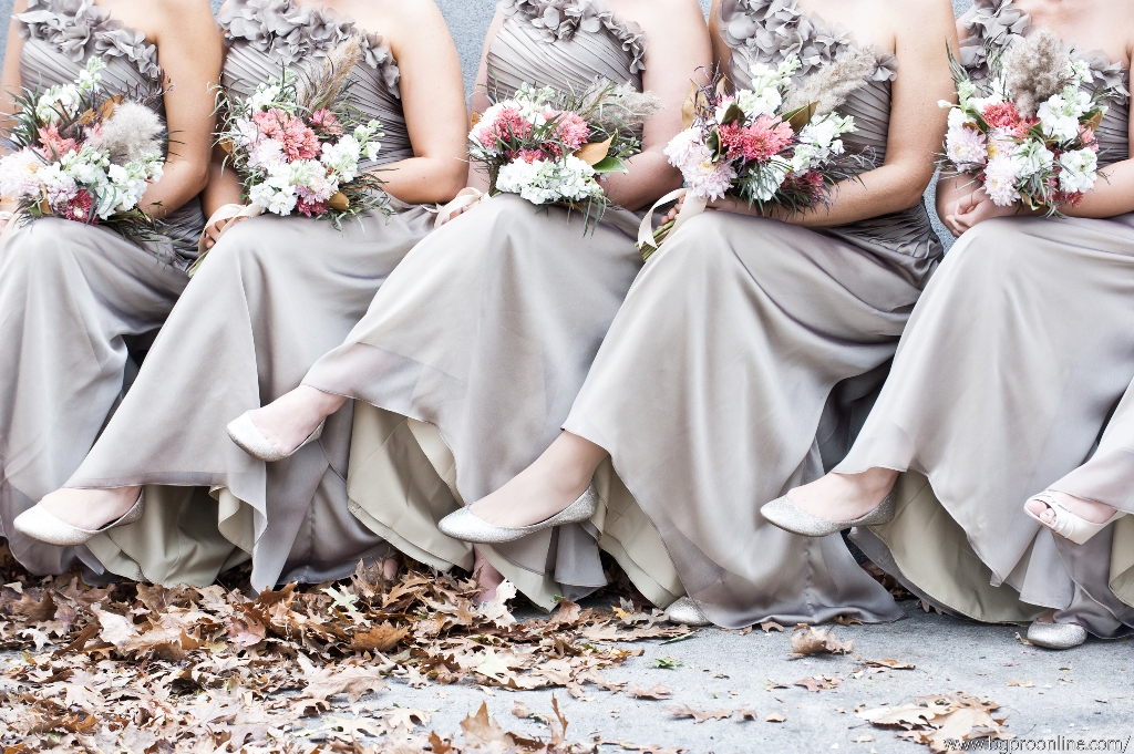November bridesmaid bouquets