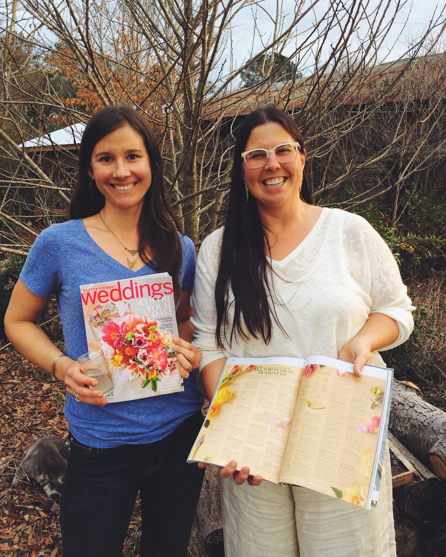 Jennie Love of Love 'n Fresh Flowers and Mandy O'Shea of Moonflower Design