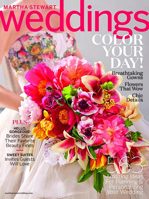 Martha Stewart Weddings Spring 2015 Issue Cover