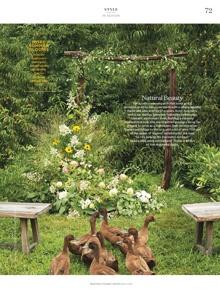 Martha Stewart Weddings Love 'n Fresh Flowers